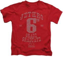 Beverly Hillbillies kids t-shirt Mr 6th Grade Grad red