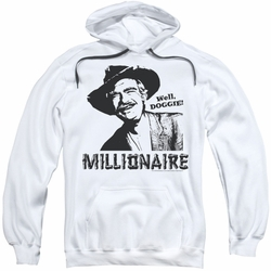 Beverly Hillbillies pull-over hoodie Millionaire adult white