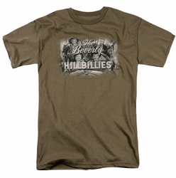 Beverly Hillbillies t-shirt Logo mens safari green