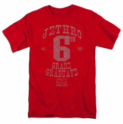 Beverly Hillbillies t-shirt Mr 6Th Grade Grad mens red