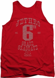 Beverly Hillbillies tank top Mr 6Th Grade Grad mens red