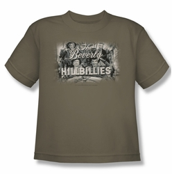 Beverly Hillbillies youth teen t-shirt Logo safari green