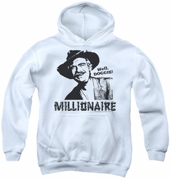 Beverly Hillbillies youth teen hoodie Millionaire white