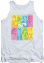 Beverly Hills 90210 tank top Color Block Of Friends mens white