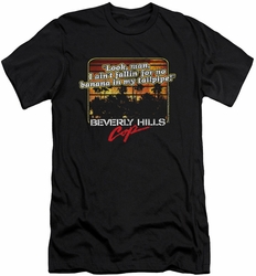 Beverly Hills Cop slim-fit t-shirt Banana In My Tailpipe mens black