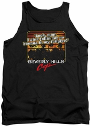 Beverly Hills Cop tank top Banana In My Tailpipe mens black