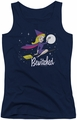 Bewitched juniors tank top New Moon navy