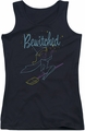 Bewitched juniors tank top Samantha Paint black
