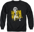 Billy Idol adult crewneck sweatshirt Brash black