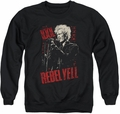 Billy Idol adult crewneck sweatshirt Brick Wall black