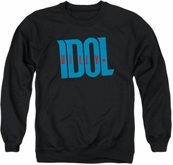 Billy Idol adult crewneck sweatshirt Logo black