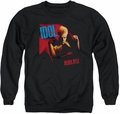 Billy Idol adult crewneck sweatshirt Rebel Yell black