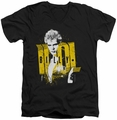 Billy Idol Brash mens black v-neck t-shirt