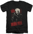 Billy Idol Brick Wall mens black v-neck t-shirt
