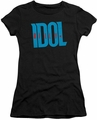 Billy Idol juniors t-shirt Logo black