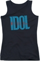 Billy Idol juniors tank top Logo black
