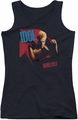 Billy Idol juniors tank top Rebel Yell black