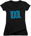 Billy Idol juniors v-neck t-shirt Logo black