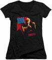 Billy Idol juniors v-neck t-shirt Rebel Yell black