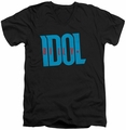Billy Idol Logo mens black v-neck t-shirt