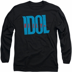 Billy Idol long-sleeved shirt Logo black