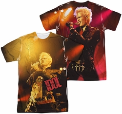 Billy Idol mens full sublimation t-shirt Rebel
