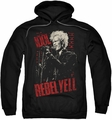 Billy Idol pull-over hoodie Brick Wall adult black