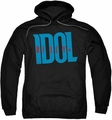 Billy Idol pull-over hoodie Logo adult black