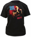Billy Idol rebel yell adult tee black t-shirt pre-order