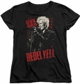 Billy Idol womens t-shirt Brick Wall black