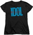 Billy Idol womens t-shirt Logo black