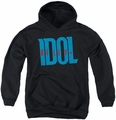 Billy Idol youth teen hoodie Logo black