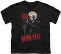 Billy Idol youth teen t-shirt Brick Wall black