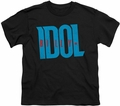 Billy Idol youth teen t-shirt Logo black