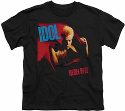 Billy Idol youth teen t-shirt Rebel Yell black