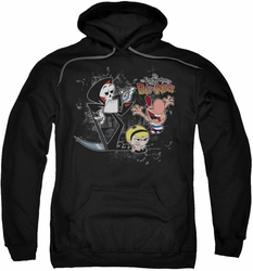 Billy & Mandy pull-over hoodie Splatter Cast adult black
