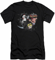 Billy & Mandy slim-fit t-shirt Splatter Cast mens black