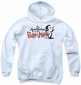 Billy & Mandy youth teen hoodie Logo white