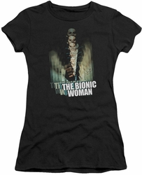 Bionic Woman juniors t-shirt Motion Blur black
