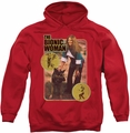 Bionic Woman pull-over hoodie Jamie And Max adult red