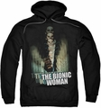 Bionic Woman pull-over hoodie Motion Blur adult black