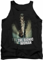 Bionic Woman tank top Motion Blur mens black