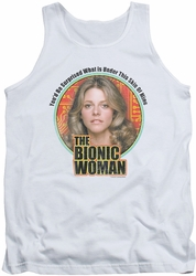Bionic Woman tank top Under My Skin mens white
