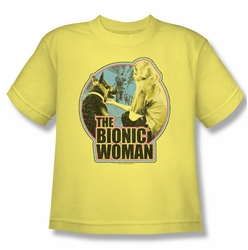 Bionic Woman youth teen t-shirt Jamie & Max banana