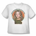 Bionic Woman youth teen t-shirt Under My Skin white