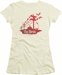 Birds juniors t-shirt On A Wire cream