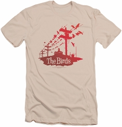 Birds slim-fit t-shirt On A Wire mens cream