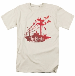 Birds t-shirt On A Wire mens cream