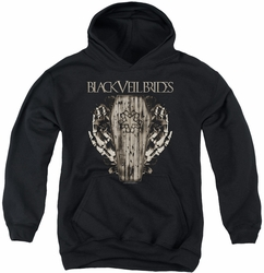 Black Veil Brides youth teen hoodie Casket Roses black