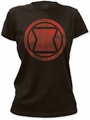 Black Widow Distressed Icon black juniors t-shirt pre-order
